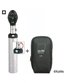 Ophthalmoskop EUROLIGHT E10, 2,5V mit Schraubgewinde, inkl. Reißverschlusstasche