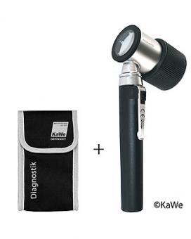 Dermatoskop PICCOLIGHT D, 2,5 V, inkl. Stofftasche