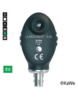 Ophthalmoskop-Kopf EUROLIGHT E36, 2,5 V, Grünfilter, EU-Version mit 6 Blenden