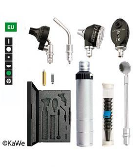 Diagnostik-Set, Otoskop COMBILIGHT F.O.30 und EUROLIGHT E36 (EU) mit Batteriegriff und Zubehör