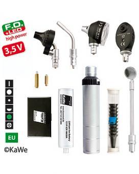 Diagnostik-Set, Otoskop COMBILIGHT F.O.30 LED und Ophthalmoskop EUROLIGHT E36 (EU) 3,5V mit Zubehör ohne Lasergravur