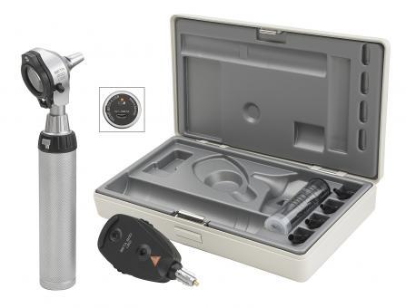 Diagnostik Set HEINE BETA 200 F.O. LED, mit USB Ladegriff, Kabel, Netzteil, Tips
