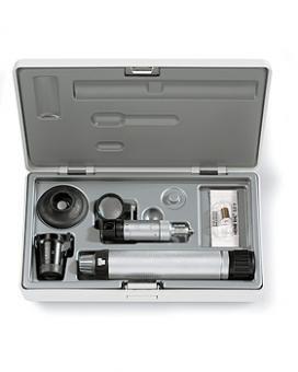 Handspaltlampen HEINE HSL 150 Set, mit Ersatzlampe und Lupenaufsatz