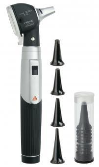 Otoskop HEINE mini 3000 F.O., 2,5V, mit 4 Dauergebrauchs- und 10 Einweg-Tips