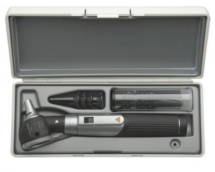 Otoskop Set HEINE mini 3000 F.O., 2,5V, mit Tips und Batterien, im Hartschalenetui