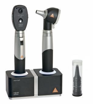 Diagnostik Set HEINE mini 3000 LED F.O., mit 2 Ladegriffen, Ladegerät, Tips ohne Lasergravur