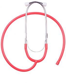 Ohrbügel aus Aluminium mit Schlauch, für LuxaScope Sonus Flat Flex Stethoskop rot