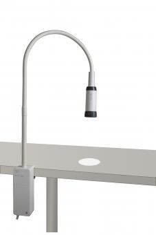 Untersuchungsleuchte HEINE EL 10 LED mit Klemmhalterung für die Tischmontage