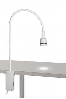 Untersuchungsleuchte HEINE EL3 LED mit Klemmhalterung für die Tischmontage