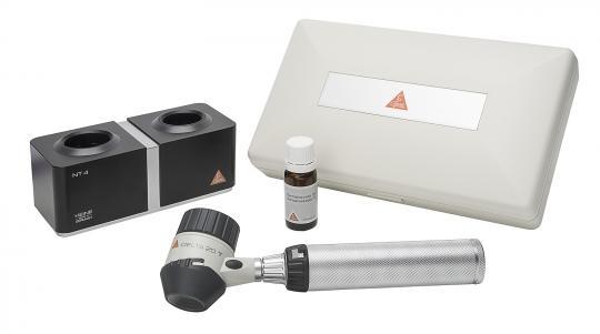 Dermatoskop HEINE DELTA 20 T LED, mit Ladegriff, Ladegerät, Öl, Etui