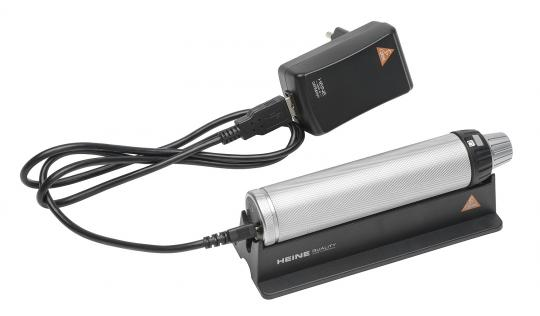 Ladegriff HEINE BETA4 USB 3,5V, mit Li-ion Ladebatterie, USB-Kabel, Steckernetzteil ohne Lasergravur