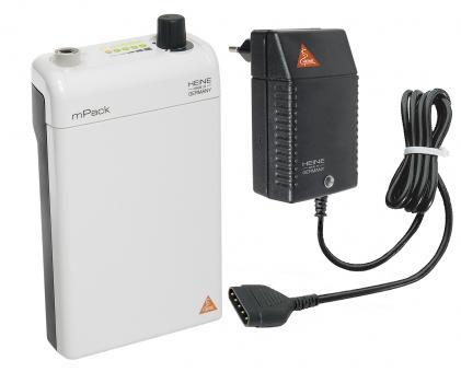 HEINE mPack mit Li-ion Ladebatterie und Steckertrafo