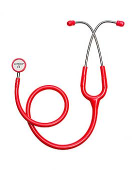 LuxaScope Sonus Neonatal, Doppelkopf-Stethoskop für Neugeborene rot